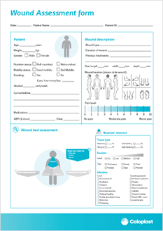 wound assessment diagram key switch wiring lighting triangle of corporate printable form to use in the clinic