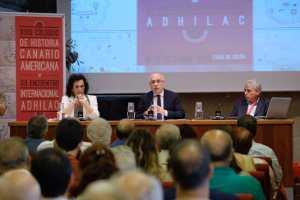 Inauguración XXIII Coloquios, Elena Acosta, Antonio Morales y Sergio Guerra.