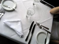 A table…