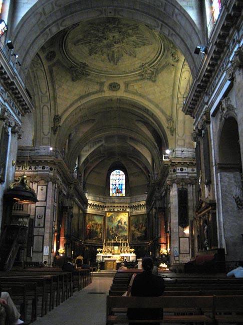 La sacristie de Notre-Dame des Victoires à  Paris