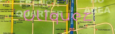 Plan de Siem Reap - Map of Siem Reap