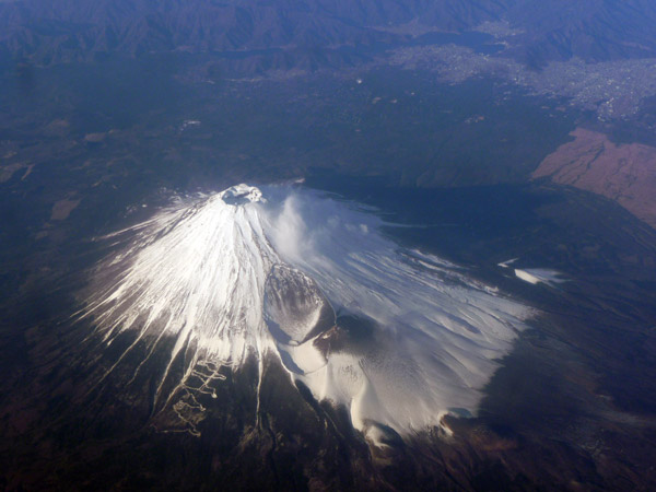 Le Mont Fuji depuis l'avion