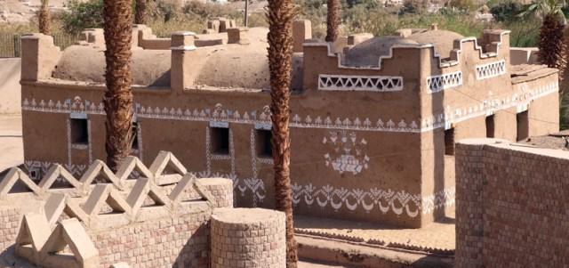 Reconstitution d'une maison nubienne typique