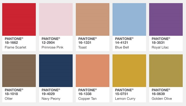 Fall And Winter 2017 18 Color Trends