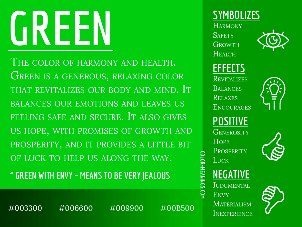 Green Color Meaning The Color Green Symbolizes Harmony
