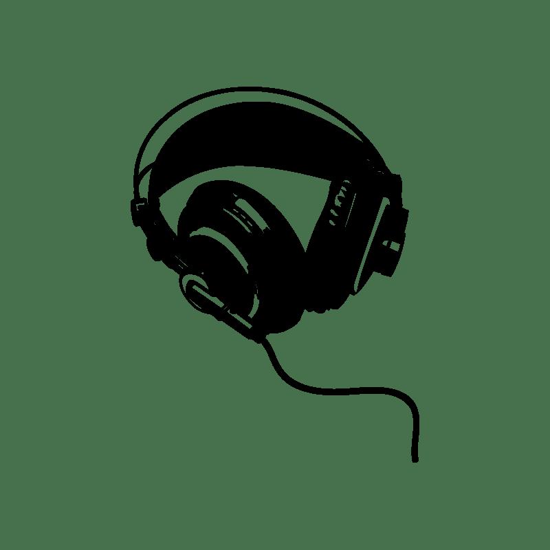 Sticker Casque audio musique  Colorstickers