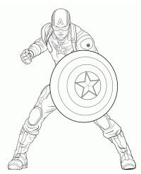 "Disegni di ""Capitan America"" da colorare"