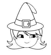 Halloween - Una bambina con il cappello da strega