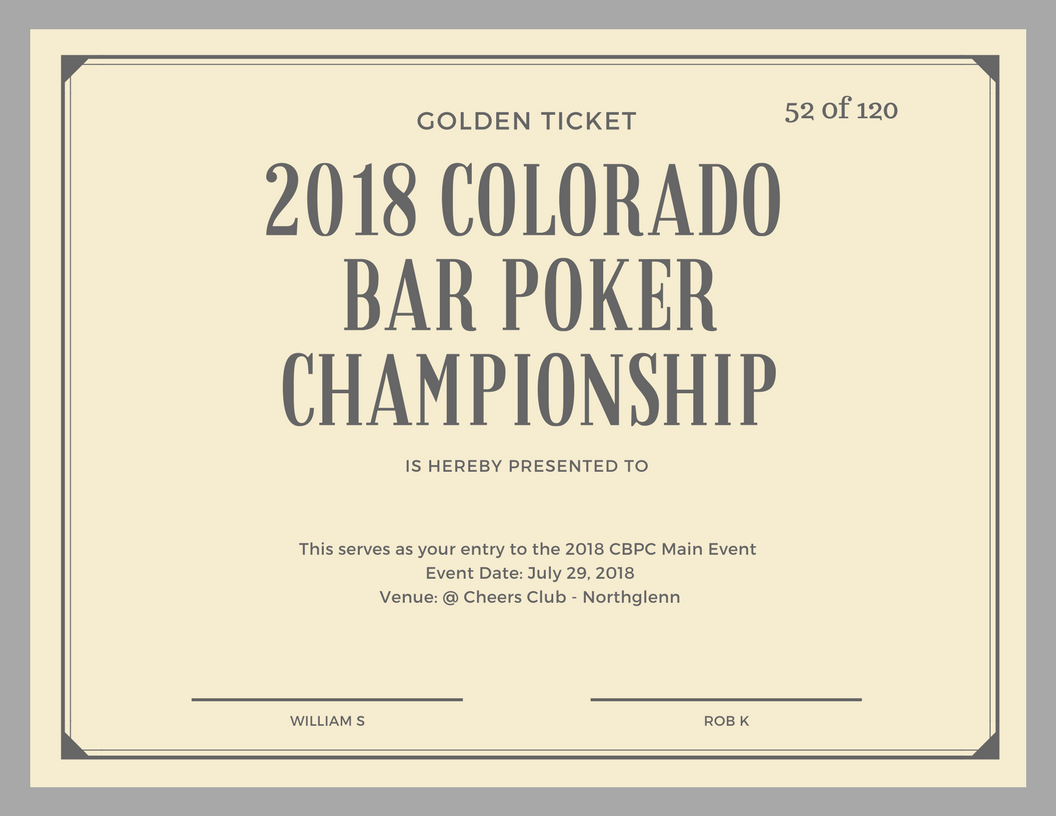 Colorado poker tournaments 2018 how to play at roulette
