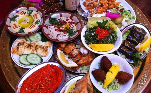 An assortment of middle eastern dishes