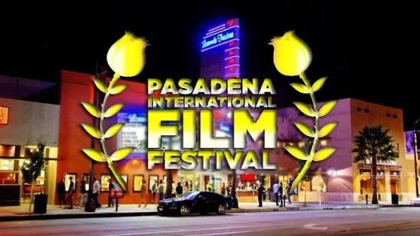 logo of Pasadena International Film Festival (PIFF) is superimposed on a movie theatre