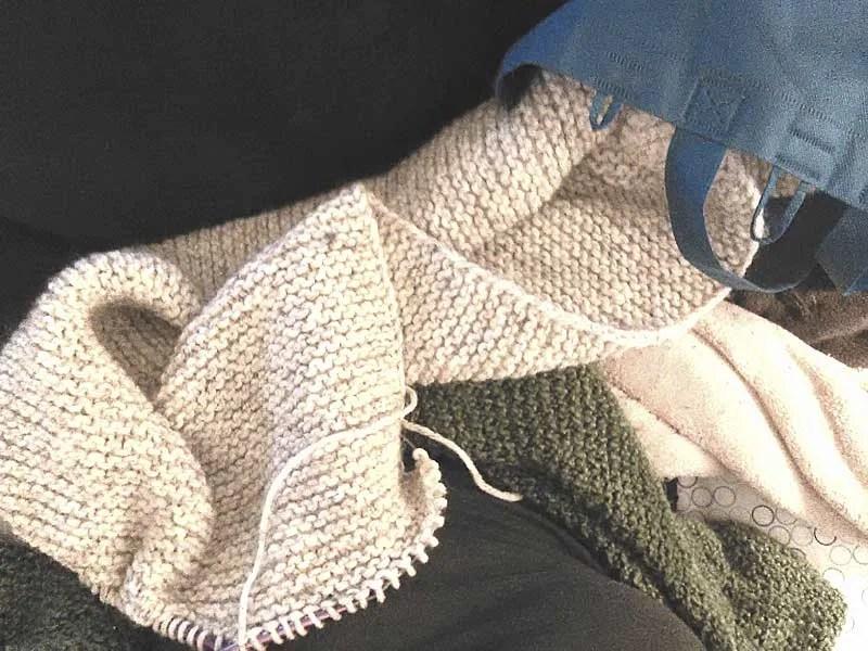 Shopping Bag of Knitting (Photo Robin Southworth).