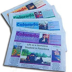 Colorful editions of ColoradoBoulevard.net newspaper print edition