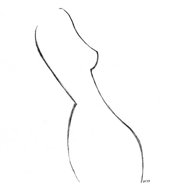 a trace of a woman's body