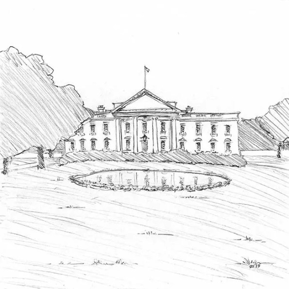 A house that resembles the white house
