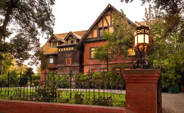 A large house resembling a chateau in Pasadena
