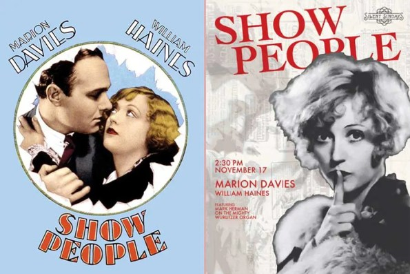 two posters for same movie oneof a movie and manembracing and ther other poster shows a woman with her finger on her mouth