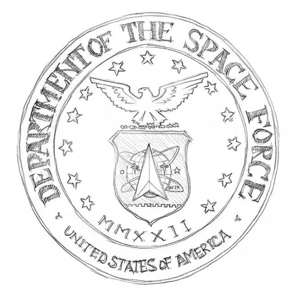 the seal of the department of the Space Force