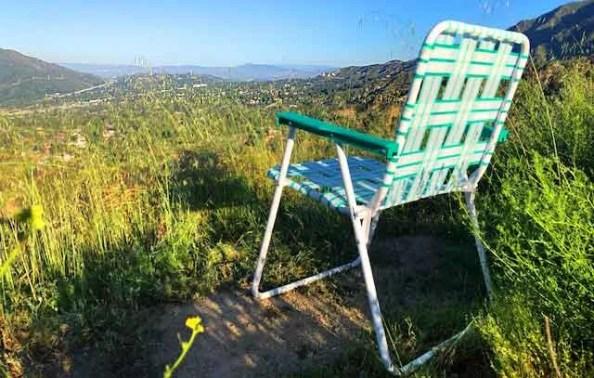 The Lawn Chair Above La Crescenta and Pasadena