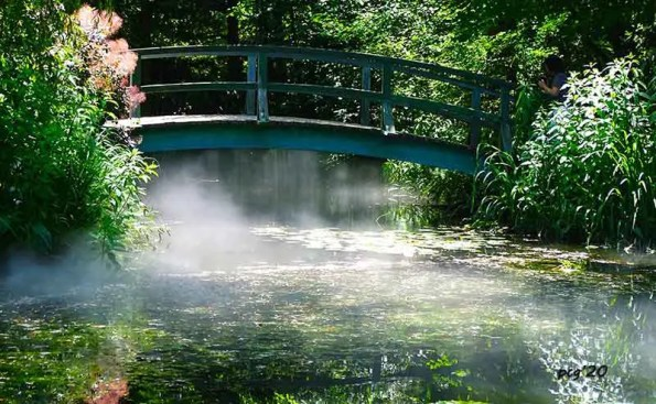 A bridge with water underneath it