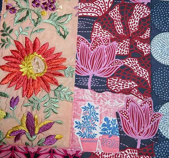 quilt fabric of flowers