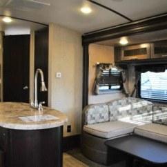 Rear Kitchen Travel Trailers Kraft Maid Cabinets Denver Rv Rental Luxury Trailer