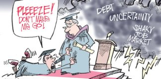 A college student panics at graduation when he sees the shaky job market, debt and an uncertain future