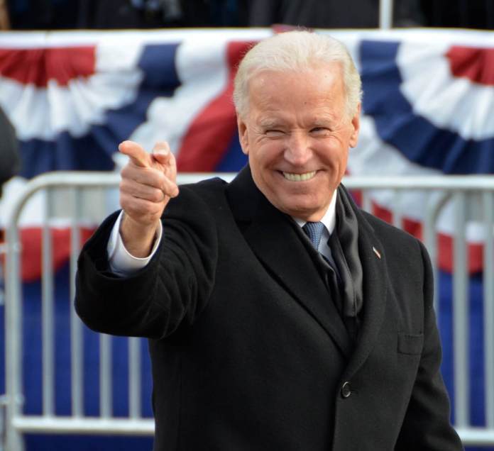 Then-Vice President Joe Biden at the 2013 Inaugural Parade in Washington. Photo by Adam Fagen via Flickr: Creative Commons.