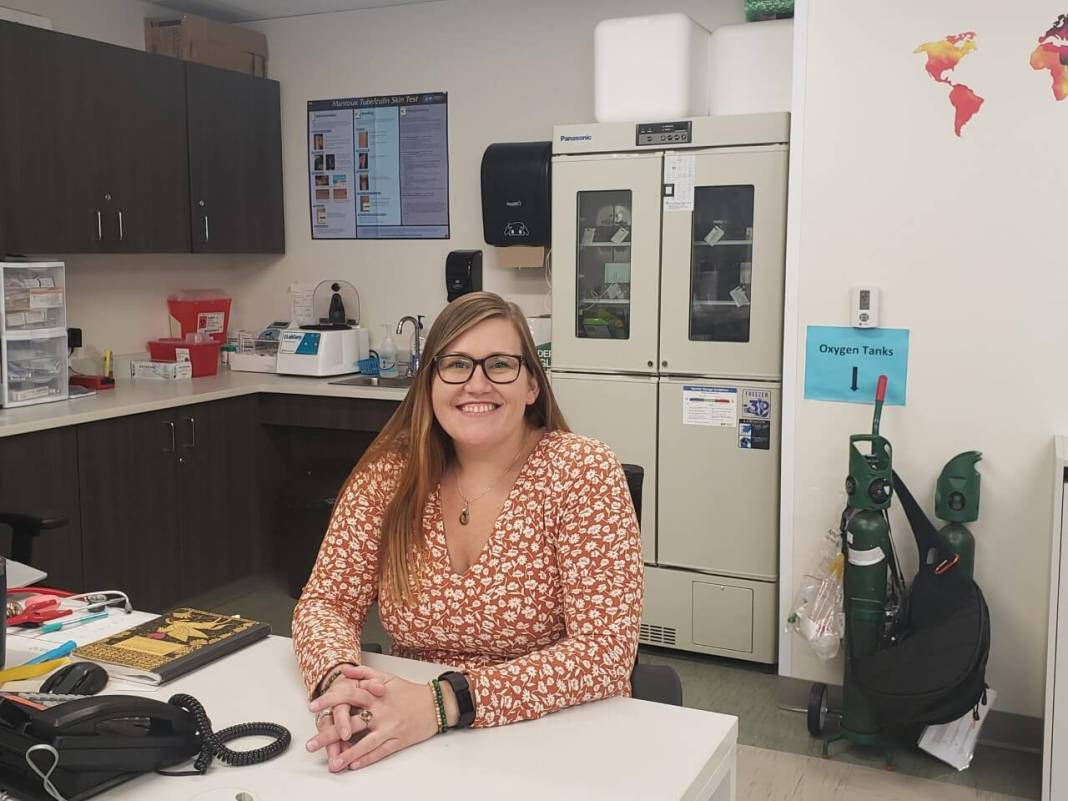 Program Manager Ashley Coram at The Olympian Wellness Center at Gateway High School on April 22, 2020. (Photo courtesy of Ashley Coram)