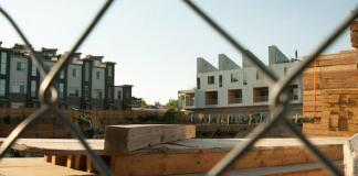 New apartment development in North Denver. (Photo by Allen Tian)