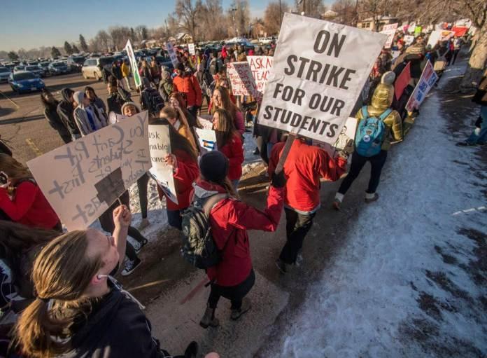 South high school denver DPS public schools strike