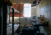 A cell in the Fremont Correctional Facility in Cañon City on July 19, 2019. Inmates are physically unable to stay far enough from their fellow prisoners to adequately socially distance as the CDC has required.