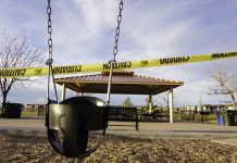 A playground in Lone Tree is sectioned off on April 1, 2020. (Photo by Forest Wilson)