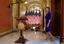WASHINGTON, DC - SEPTEMBER 24: U.S. House Speaker Nancy Pelosi (D-CA) walks towards to a podium to speak to the media at the Capitol Building September 24, 2019 in Washington, DC. Pelosi announced a formal impeachment inquiry today after allegations that President Donald Trump sought to pressure the president of Ukraine to investigate leading Democratic presidential contender, former Vice President Joe Biden and his son, which was the subject of a reported whistle-blower complaint that the Trump administration has withheld from Congress. (Photo by Alex Wong/Getty Images)