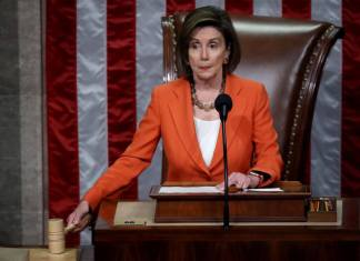 WASHINGTON, DC - OCTOBER 31: Speaker of the House Nancy Pelosi (D-CA) gavels the close of a vote by the U.S. House of Representatives on a resolution formalizing the impeachment inquiry centered on U.S. President Donald Trump October 31, 2019 in Washington, DC. The resolution, passed by a vote of 232-196, creates the legal framework for public hearings, procedures for the White House to respond to evidence and the process for consideration of future articles of impeachment by the full House of Representatives. (Photo by Win McNamee/Getty Images)