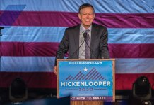 John Hickenlooper launches his presidential campaign at Denver Civic Center on March 7, 2019 (Photo by Evan Semón)