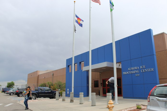 The ICE detention facility in Aurora is the subject of a scathing government review. Photo by Alex Burness