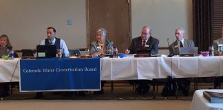 Members of the Colorado Conservation Board seem like they're bored.