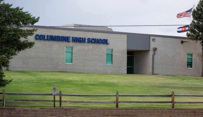 Columbine High School in Littleton on July 15, 2019. (Austin Fleskes | Colorado Independent)