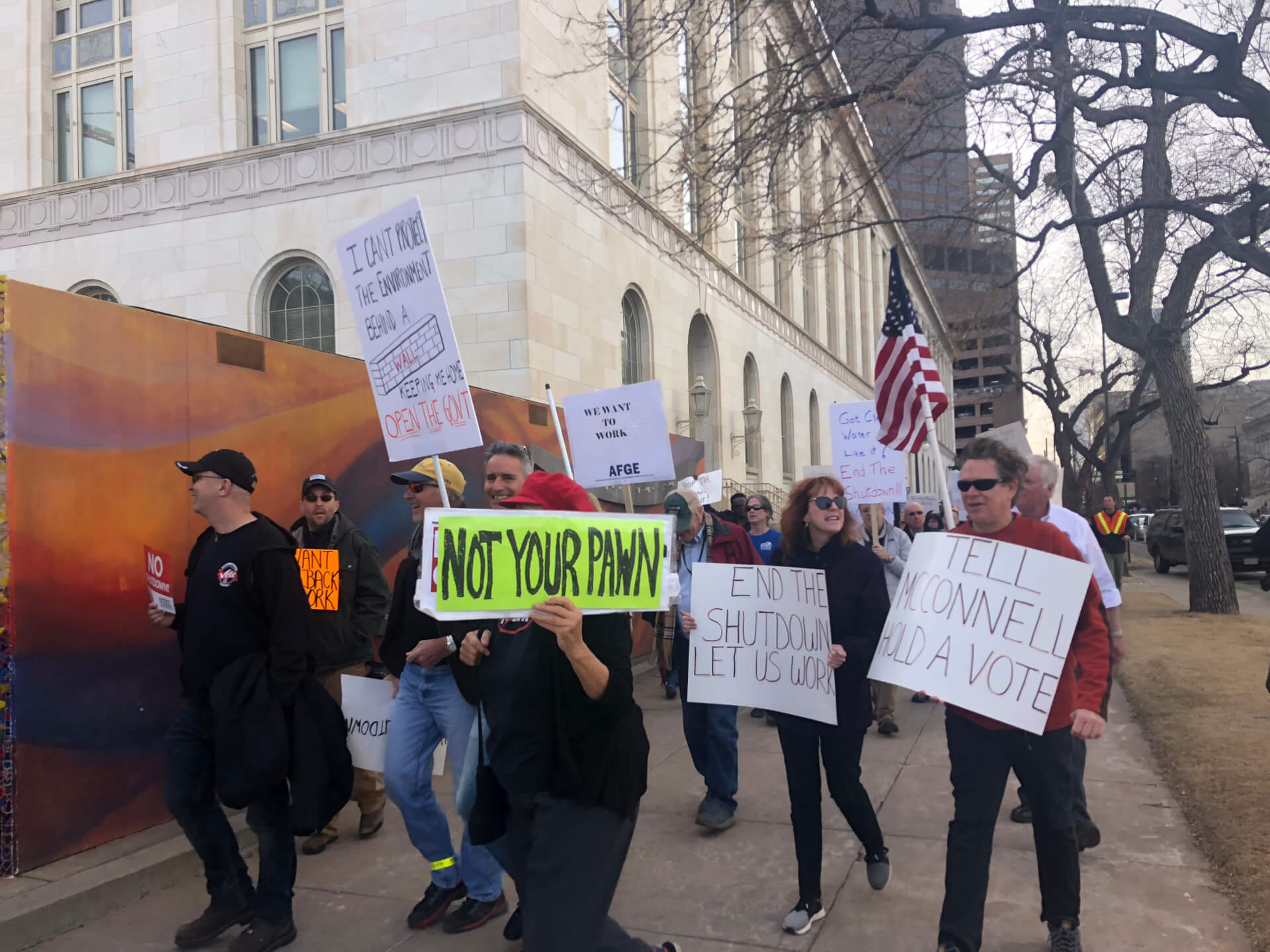 Federal Workers In Denver Protest Shutdown: 'Do Your Job So
