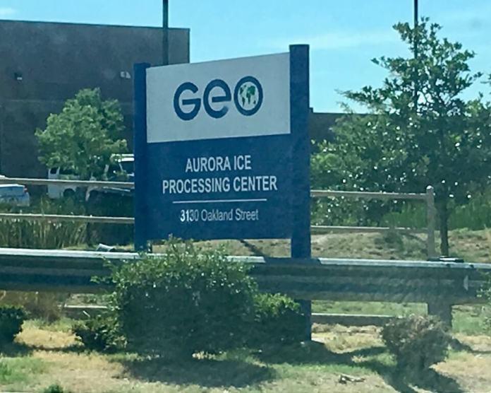 The GEO Group-run Aurora Processing Center in Aurora. (Photo by Susan Greene)