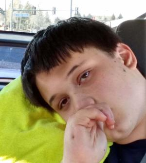 Sixteen-year-old Ben during a recent McDonald's run near his home in Superior, Colorado.