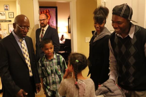 Moses-EL, his son and grandchildren are reunited.