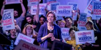 Sen. Elizabeth Warren (D-Massachusetts) rallied in Denver Sunday, nine days before Colorado's Super Tuesday presidential primary on March 3. (Photo by Evan Semón Photography)