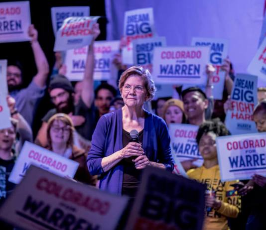 Warren's Colorado backers say she alone can mend a tattered nation