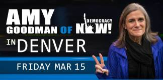 amy goodman of democracy now in denver