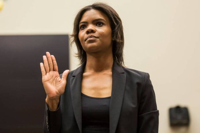 WASHINGTON, DC - APRIL 09: Candace Owens of Turning Point USA is sworn in before testifying during a House Judiciary Committee hearing discussing hate crimes and the rise of white nationalism on Capitol Hill on April 9, 2019 in Washington, DC. Internet companies have come under fire recently for allowing hate groups on their platforms. (Photo by Zach Gibson/Getty Images)