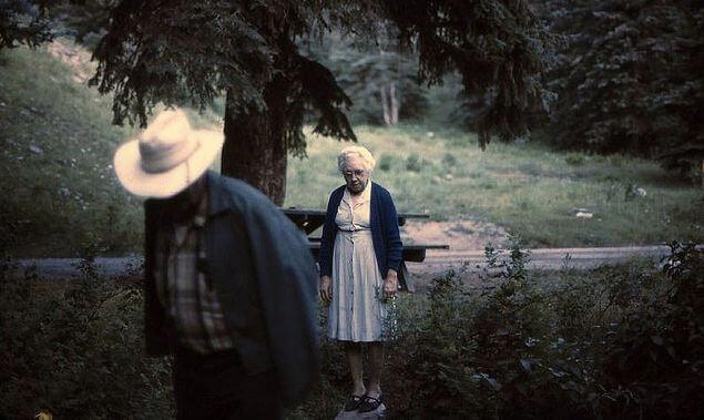Bill and Leona Crockett, Rifle Mountain Park, 1960s.