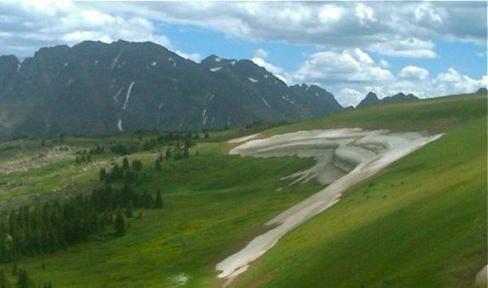 Summer snow Gore Range Colorado