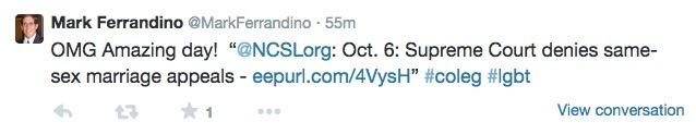 ferrandino marriage tweet